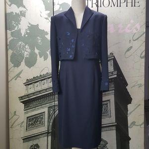 Adrianna Papell 2 Piece Midi Dress Size 12